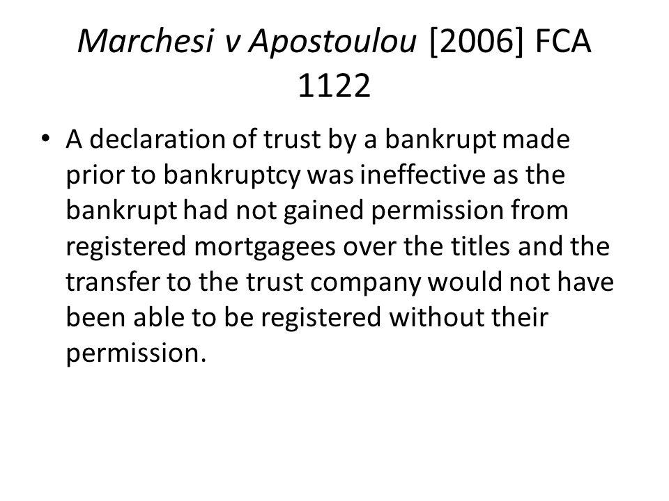 Marchesi v Apostoulou [2006] FCA 1122